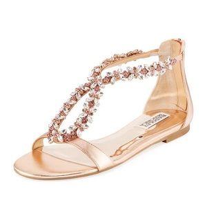 Badgley Mischka Haynes Sandal -Rose Gold